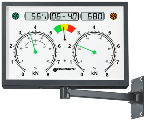 Display RAL 7016 | analog, rectangular | LCD, swivel arm, IR receiver | 1 691 601 762